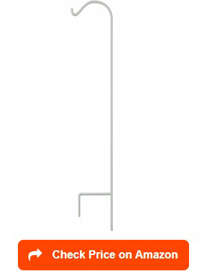 Patio Or Deck Pole Base For 1 Inch Diameter Squirrel Proof Bird Feeder Poles The 24 Is Solid Metal Tubing With A Turn To