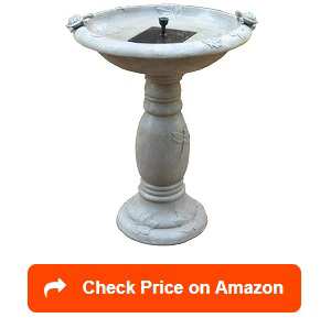 Smart-Solar-20622R01-Country-Gardens-Solar-Birdbath-Fountain