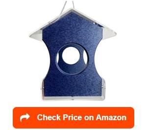 jc's wildlife blue hanging bird feeder
