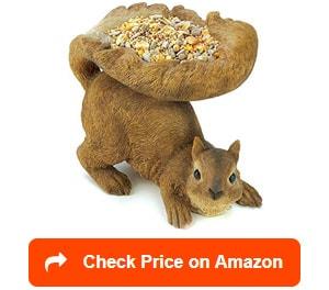 Gifts-&-Decor-Woodland-Brown-Squirrel-Outdoor-Birdfeeder