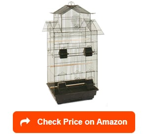 mcage canary cockatiel roof top bird cages