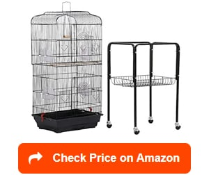 yaheetech open top standing bird cages